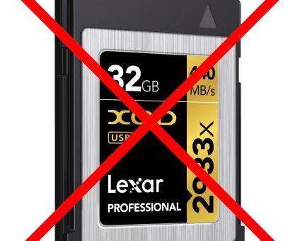 Lexar rezygnuje z XQD, trwają pracę nad następcą!